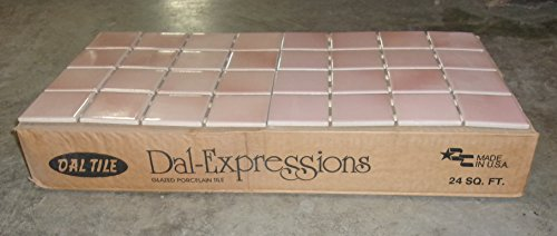 Dal-Tile Coral Mist Pink Tile Ceramic Kitchen Remodel Replacement Home Improvement Repair Bathroom Backsplash Wall Entry Meshed 200 Square (Coral Mist)
