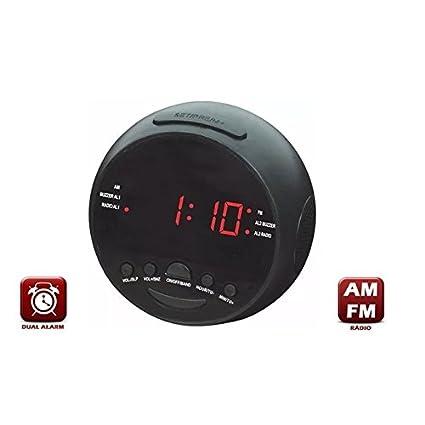 c0b75eb2ce3 RADIO RELOGIO LED COM ALARME DESPERTADOR DIGITAL AM FM COM DUPLO ALARME