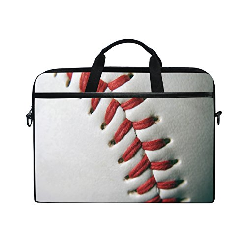 a25455eedab6 ALAZA Baseball White 15 15.6 inch Laptop Case Shoulder Bag Crossbody Briefcase  Messenger Sleeve for Women