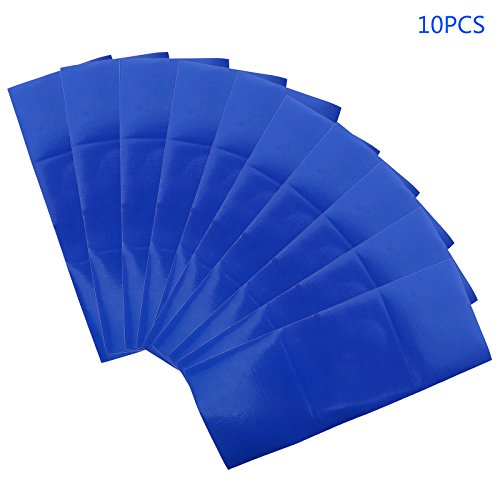 Decal Canopy Micro - Micro Trader 10pcs Blue Waterproof Adhesive Patch Repair Tape for Canvas Tent Awning Sail accessories tool