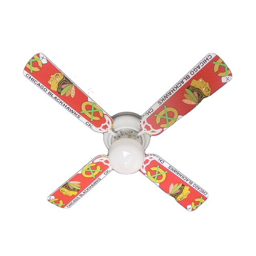Ceiling Fan Designers Ceiling Fan, NHL Chicago Blackhawks Hockey, 42