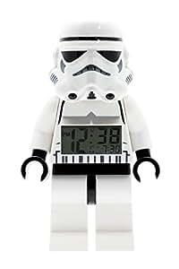 Lego 9002137 Reloj Despertador, Star Wars Storm Trooper, color Blanco