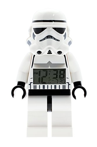 LEGO Star Wars 900213 Stormtrooper Kids Minifigure Light Up Alarm Clock | black/white | plastic | 9.5 inches tall | LCD display | boy girl | official