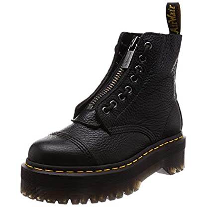 Dr. Martens Womens Sinclair Aunt Sally Black Zipper Closed Toe Ankle Boots 1