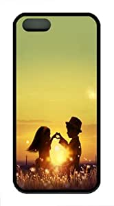 Apple iPhone 5/5S Cases and Cover Kids At Twilight TPU Rubber Case for iPhone 5 and iPhone 1009S - Black