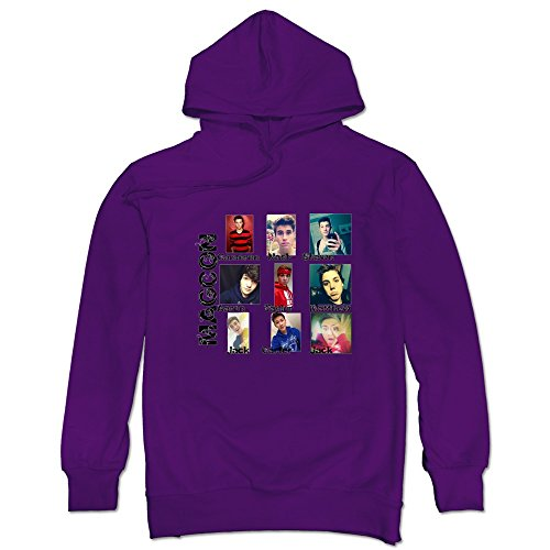 Cool Magcon Boys Men's Hooded Hoodies Purple Size L