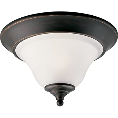 "Progress Lighting P3475 Trinity 12-1/2"" Single-Light Flush Mount Ceiling Fixture,"