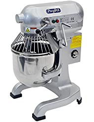 PREPPAL Heavy Duty Gear Driven Stainless Steel Commercial Planetary Floor Mixer