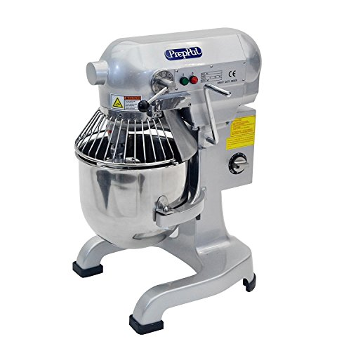 Commercial Stainless Steel Food Mixer, 10-Quart PREPPAL PPM-10 Small Floor Heavy Duty Mixer Stand mixer with Bowl Lift