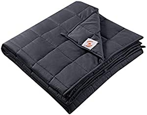 "timeless design d89c4 fb080 ENTER Maple Down Weighted Blanket, 100% Cotton Material with Glass Beads,  for Adult   Kids, Bedroom   Living Room, Queen Size, 180lbs-210lbs. (Gray  60""x80"" ..."