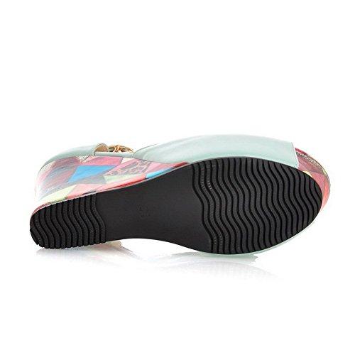 1TO9 Womens Platform height High-Heels Blue Soft Material Sandals - 5.5 B(M) US kbDkfslUt0