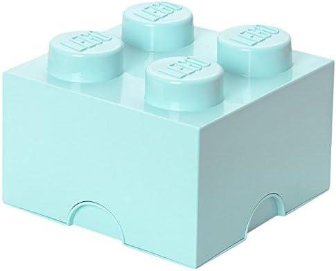LEGO Aqua Light Blue Storage Box Brick 4 DIF, 4 Knobs