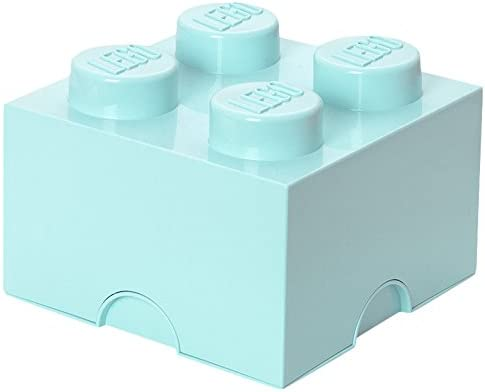 LEGO - Caja de almacenaje 4, color azul claro: Amazon.es: Juguetes ...