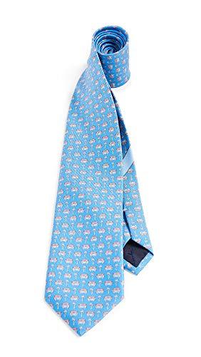 Salvatore Ferragamo Men's Vacation Print Tie, Light Blue, One Size