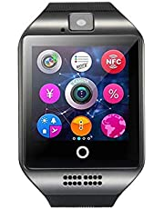 Smart Watch Touch Screen Smartwatch with Camera and SIM Card TF/SD Card Slot Pedometer Activity Tracker for Android iOS Phones Samsung (Black)