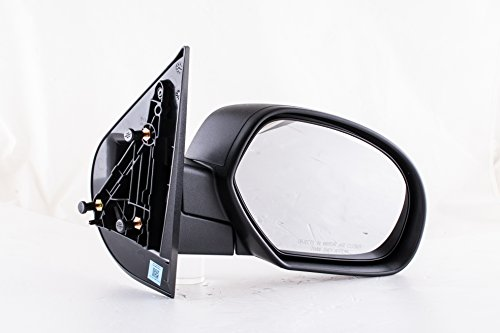 Dependable Direct Right Passenger Side Textured Non-Heated Folding Door Mirror Chevy Silverado GMC Sierra 1500 2500 3500 HD (2007 2008 2009 2010 2011 2012 2013 ()