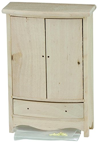 Classics by Handley Dollhouse Armoire, Unfinished (House Armoire)