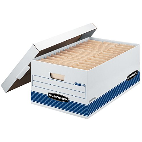 Corrugated Box Strength - Bankers Box STOR/FILE Medium-Duty Storage Boxes, FastFold, Lift-Off Lid, Legal, Case of 12 (00702)