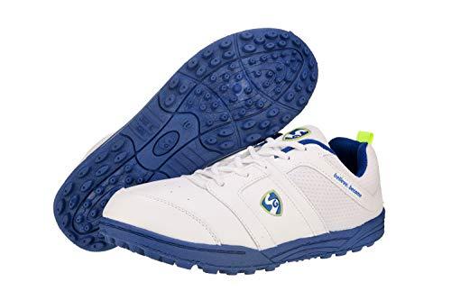 SG Men's Shoe SG Shield (X3) WHT/R.Blue/WHT No. 5 Cricket Shoes, 5 (WHT/R.Blue/WHT) Price & Reviews