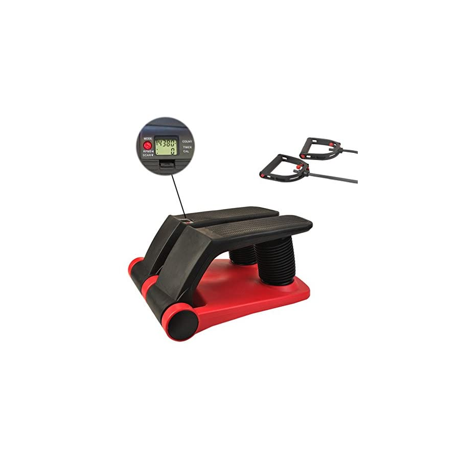 FISOUL Air Stepper Climber Exercise Fitness Thigh Machine for Home Workout Gym (red & Black)