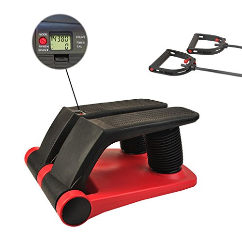 Air Stepper Climber Exercise Fitness Thigh Machine With DVD Meal Plan Resistan Cord For Home Workout Gym