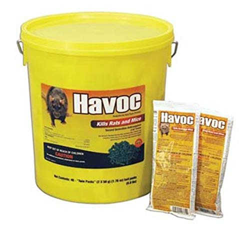 NEOGEN RODENTICIDE 40-Pack Havoc Mouse and Rat Killer, 50gm
