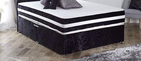 Calidad de colchones Sleepkings - 22,86 cm Super empresa colchón ortopédico - negro terciopelo frontera, 121 cm: Amazon.es: Hogar