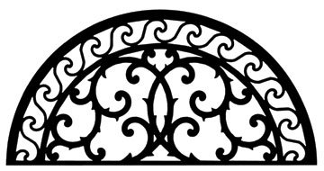 30 Inch Wall Art Style 197 (Round Wrought Iron)
