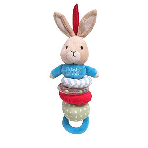 Rabbit Plush Rattle - Beatrix Potter Peter Rabbit Plush Jiggle Toy, 12.5