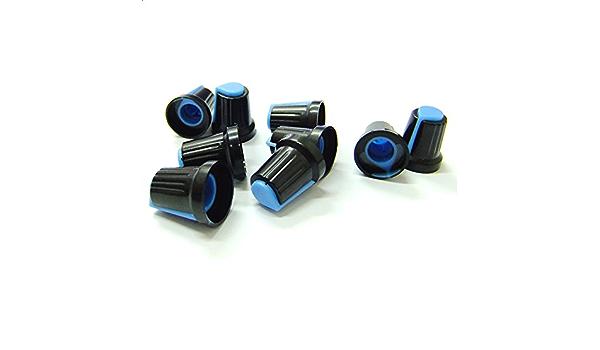 10x Potentiometer Switch Knob Cap Hole Dia 6mm Volume Control Rotary Knob Cap