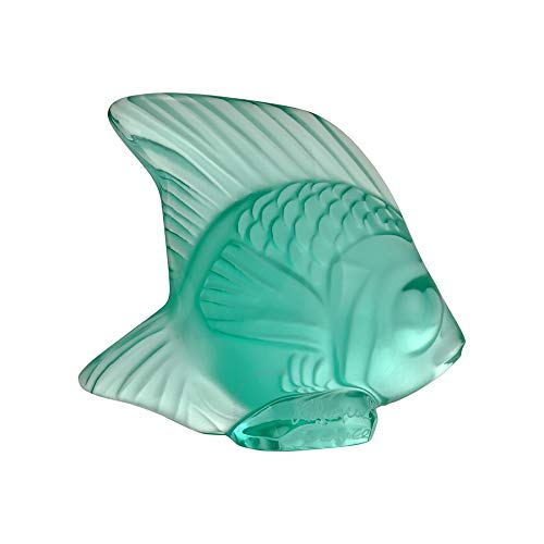 Lalique Crystal Fish - Lalique Crystal Mint Green Fish