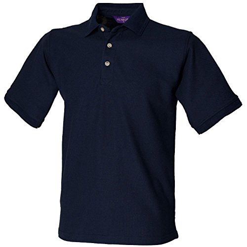 Henbury Ultimative Heavy Pique Polo Shirt H410 Navy 3 X L
