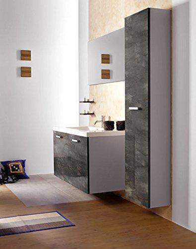 Panel de pared aspecto vidrio WallFace 20223 GENESIS Grey AR+ liso Revestimiento mural de aspecto mármol extra brillante autoadhesivo resistente a la ...