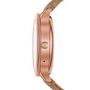 Fossil Women's Gen 3 Venture Stainless Steel touchscreen Watch with Leather Strap, beige (Model: FTW6005)