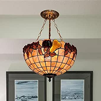 - Tiners 16-inch-frutero con diseño de Tiffany lámpara de techo colgante