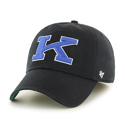 Black Franchise Hat - '47 NCAA Kentucky Wildcats Franchise Fitted Hat, Black 2, Large