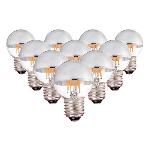 Century Light - G45 Edison Style LED Bulb 4W - Silver Tipped LED Filament Bulb - 40 Watt Equivalent - E26 Base Candelabra Lamp - Dimmable - Warm White 2700K ()