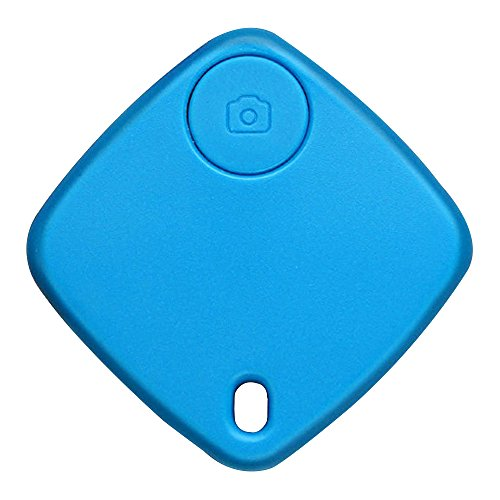 Happy Hours - Mini Wireless Bluetooth Tracker for Pet Bag Key Wallet / Square Smart Finder With Remote Selfie Function / Anti-lost GPS Locator for Apple iOS and Android(Blue)