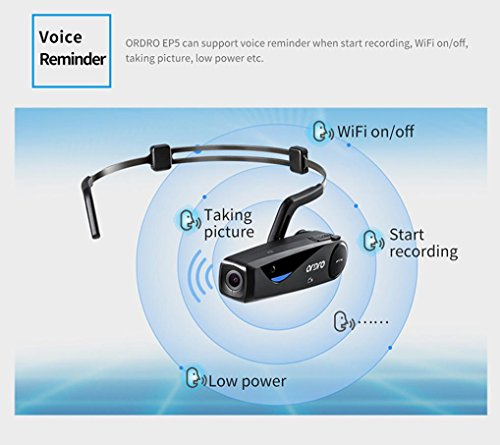 Full HD 1080P Video Camera,Wifi 90° Wide Angle Lens,Sonmer ORDRO EP5 Head Action Mini DV Camcorder by Sonmer (Image #2)