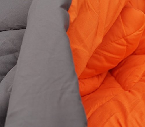 Gray/Orange Reversible Comforter - Twin XL Twin Extra Long
