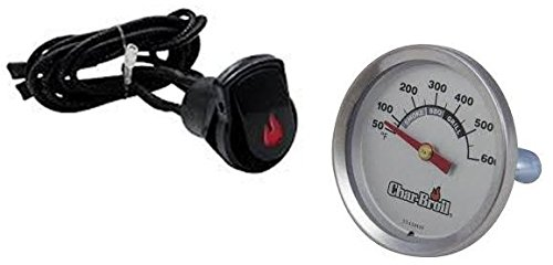Button Ignition (Char-Broil Surefire Electronic Ignition Button and Complementary 7184426 Temperature Gauge)