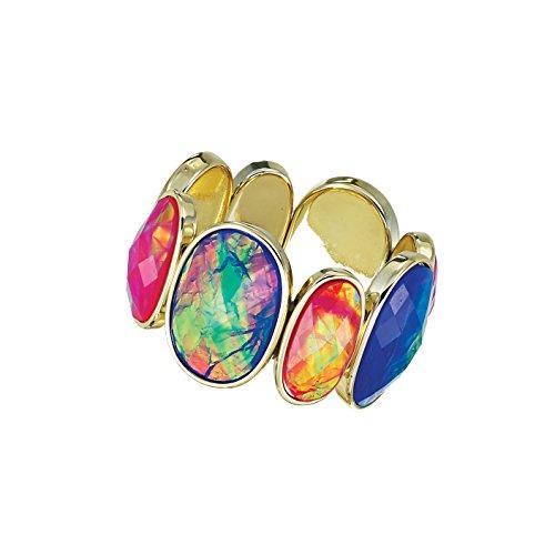 Multi Holographic Gem Statement Bracelet