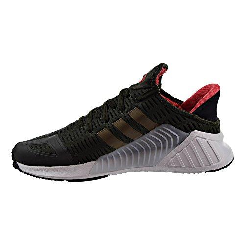 Adidas Mens Climacool 02/17 Originali Scarpe Da Corsa Notte Carico / Traccia Oliva / Calzature Bianche
