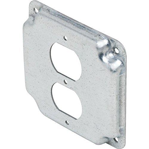 """332353 Steel 4"""" Square 1/2"""" Raised Duplex Cover-SET OF 2"""