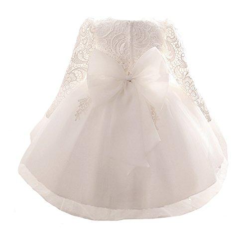 Myosotis510 Girls' Lace Princess Wedding Baptism Dress Long Sleeve Formal Party Wear for Toddler Baby Girl by Myosotis510 (Image #1)