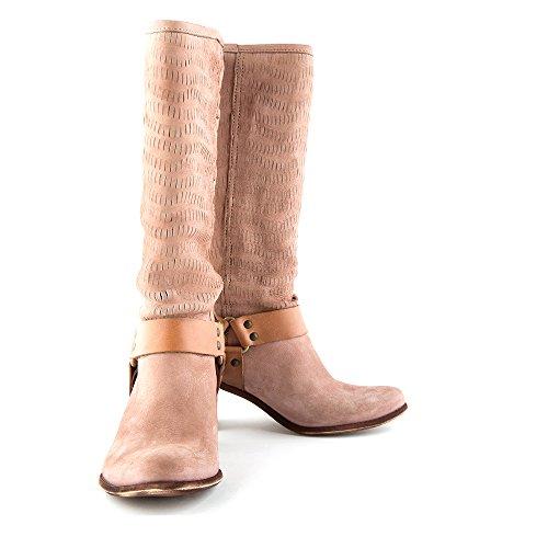 Felmini - Zapatos para Mujer - Enamorarse com Vegas 7832 - Botas Altas Cowboy & Biker - Cuero Genuino - Marrón - 0 EU Size Marrón