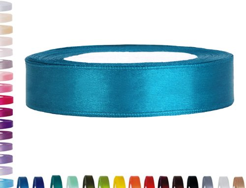 Satinband Dekoband 25 mm breit (türkis)