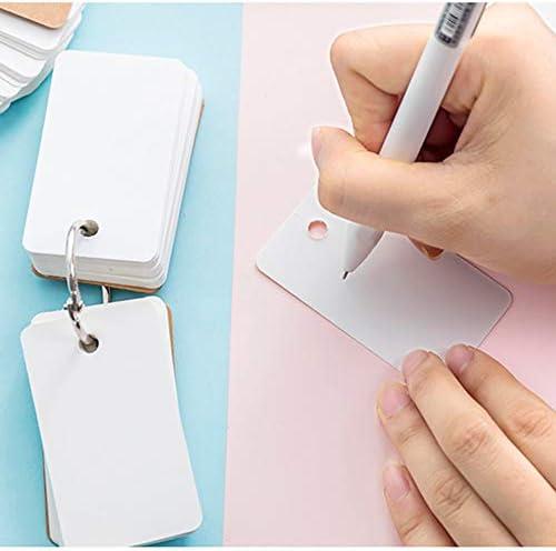 en blanco Juego de 8 tarjetas de memoria flash de 400 piezas Homo Trends para cuaderno tarjetas de memoria flash de 3.5 x 2.2 pulgadas linternas tarjetas de estudio de papel kraft