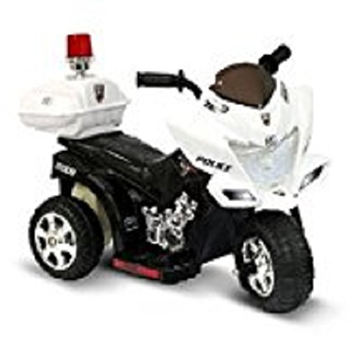 New 6V Black and White Lil Patrol Ride-on Police Motorcycle Power Car Toy PUNER Store by PUNPUN Store