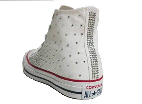Converse all star starss bianco optical white( prodotto artigianale )